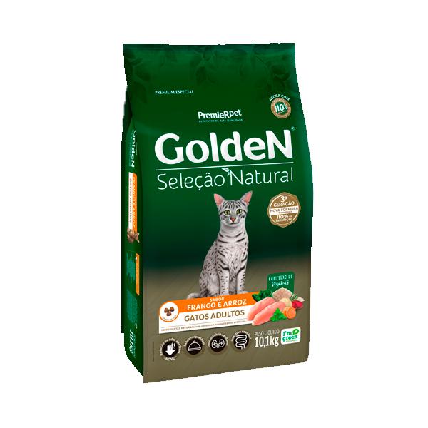 Ração Golden Seleção Natural Gatos Adultos Sabor Frango & Arroz