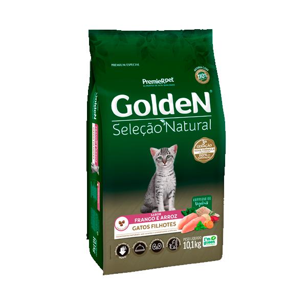 Ração Golden Seleção Natural Gatos Filhotes Sabor Frango & Arroz