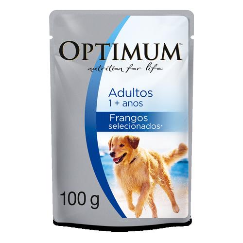 Ração Optimum Sachê para Cães Adultos Frango