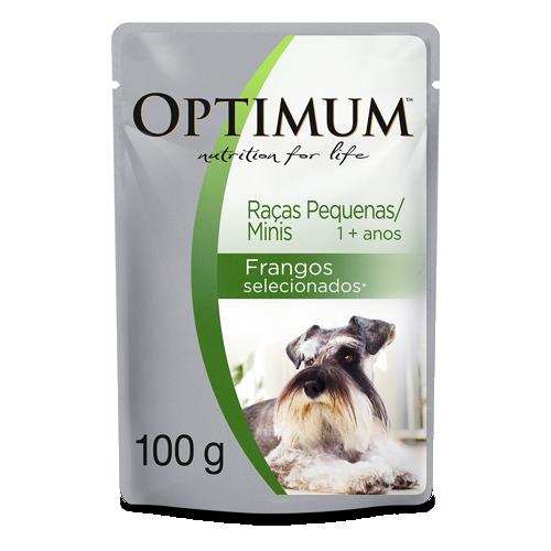 Ração Optimum Sachê para Cães Adultos Raças Pequenas e Minis Frango