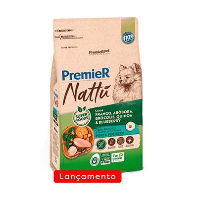 Ração Premier Nattu para Cães Adultos Raças Pequenas Sabor Abóbora