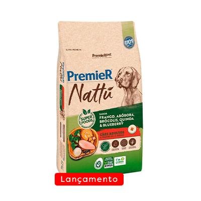 Ração Premier Nattu para Cães Adultos Sabor Abóbora