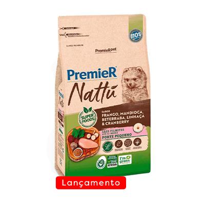 Ração Premier Nattu para Cães Filhotes Raças Pequenas Sabor Mandioca