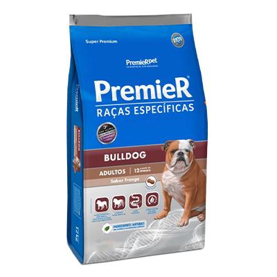 Ração Premier Raças Específicas Bulldog Adulto Sabor Frango 12kg