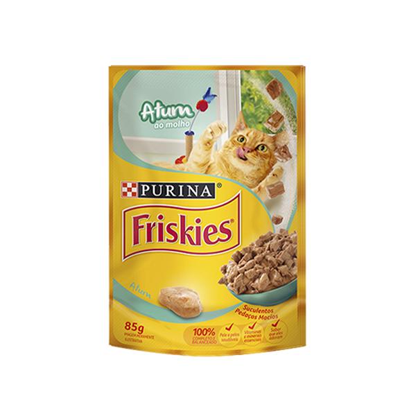Ração Úmida Nestlé Purina Friskies Gatos Adultos 85g