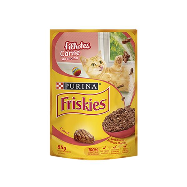 Ração Úmida Nestlé Purina Friskies Gatos Filhotes 85g