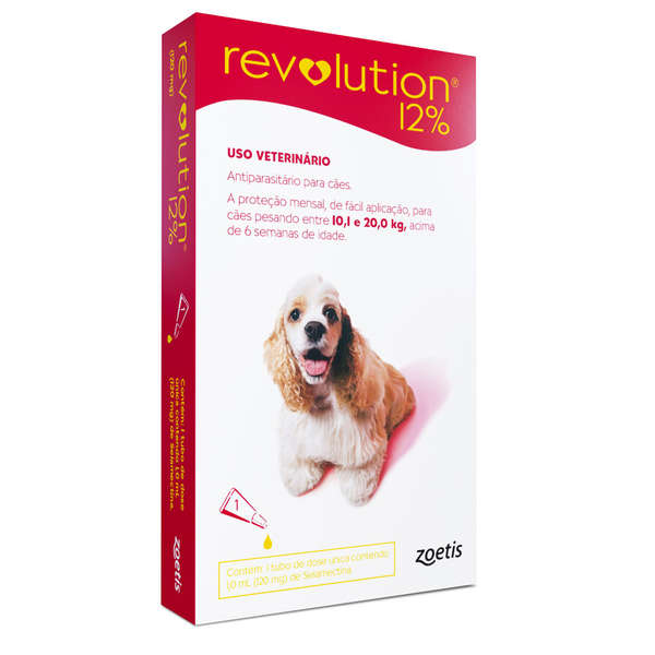 Revolution 12% Cães de 10,1 a 20 kg com 120 mg