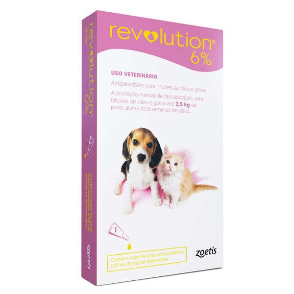 Revolution 6% Cães e Gatos até 2,5 kg com 15mg