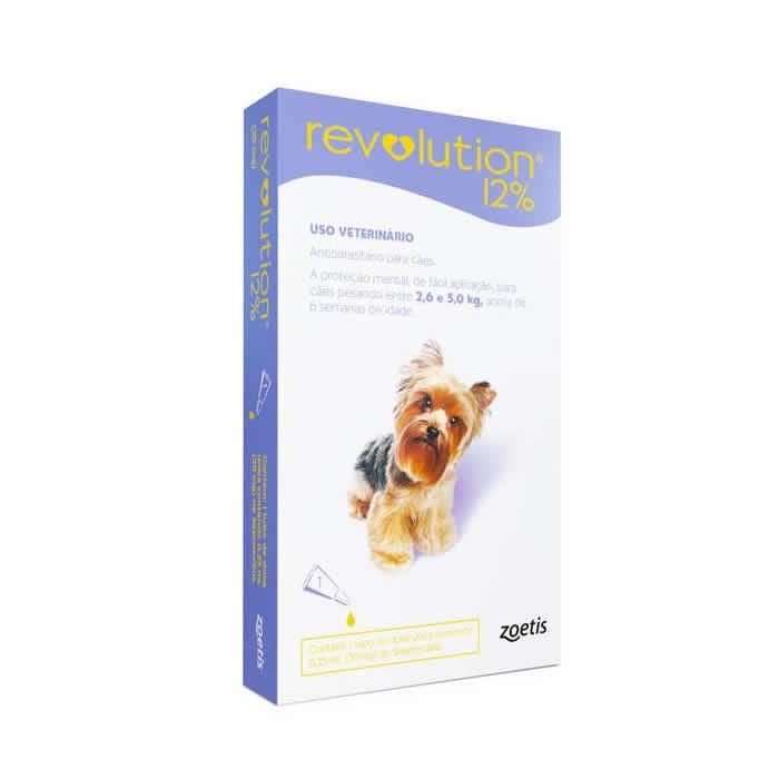 Revolution 12% Cães de 2,6 até 5 kg com 30mg