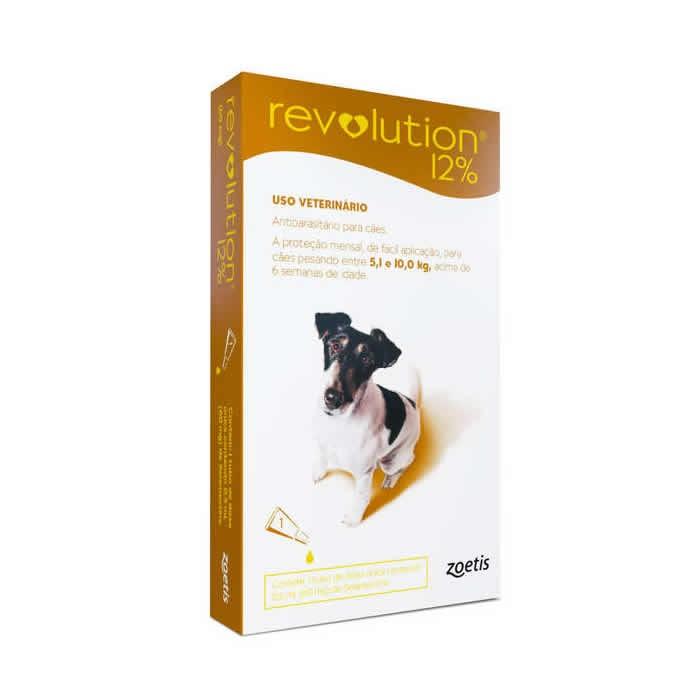 Revolution 12% Cães de 5,1 até 10 kg com  60mg