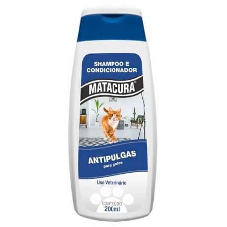 Shampoo e Condicionador  Matacura Antipulgas Gatos
