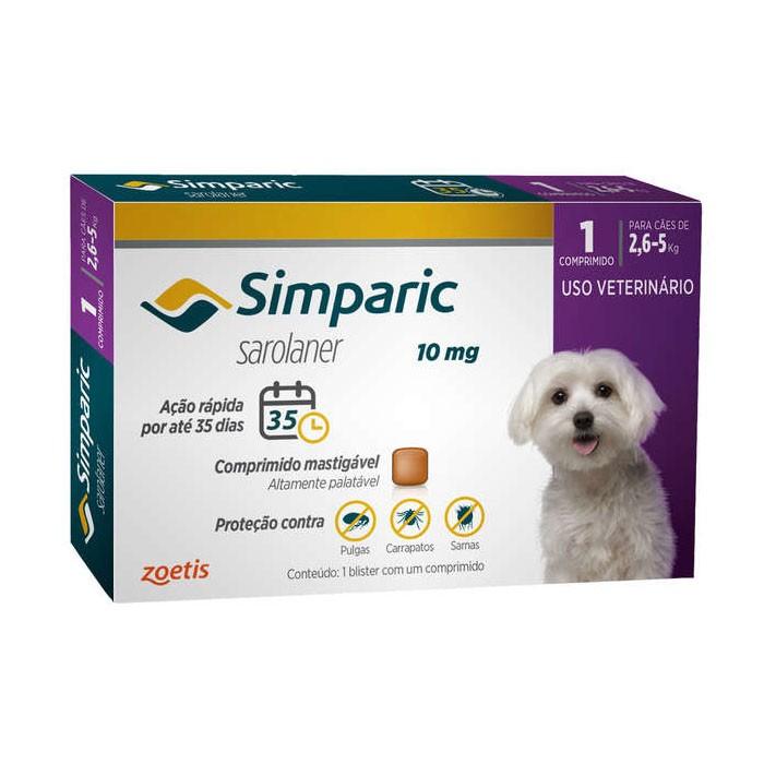 Simparic 10 mg para Cães de 2,6 a 5 kg