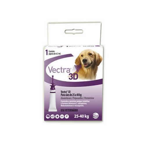 Vectra 3D Cães de 25 até 40 kg com 4,7ml