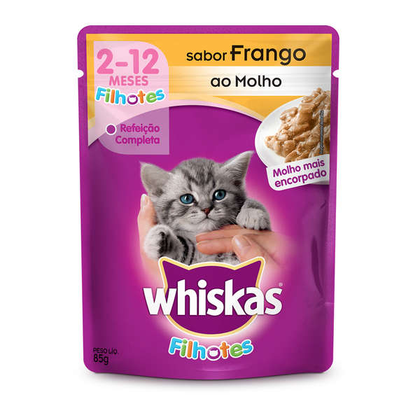 Whiskas Filhote Frango Molho Sachê 85g