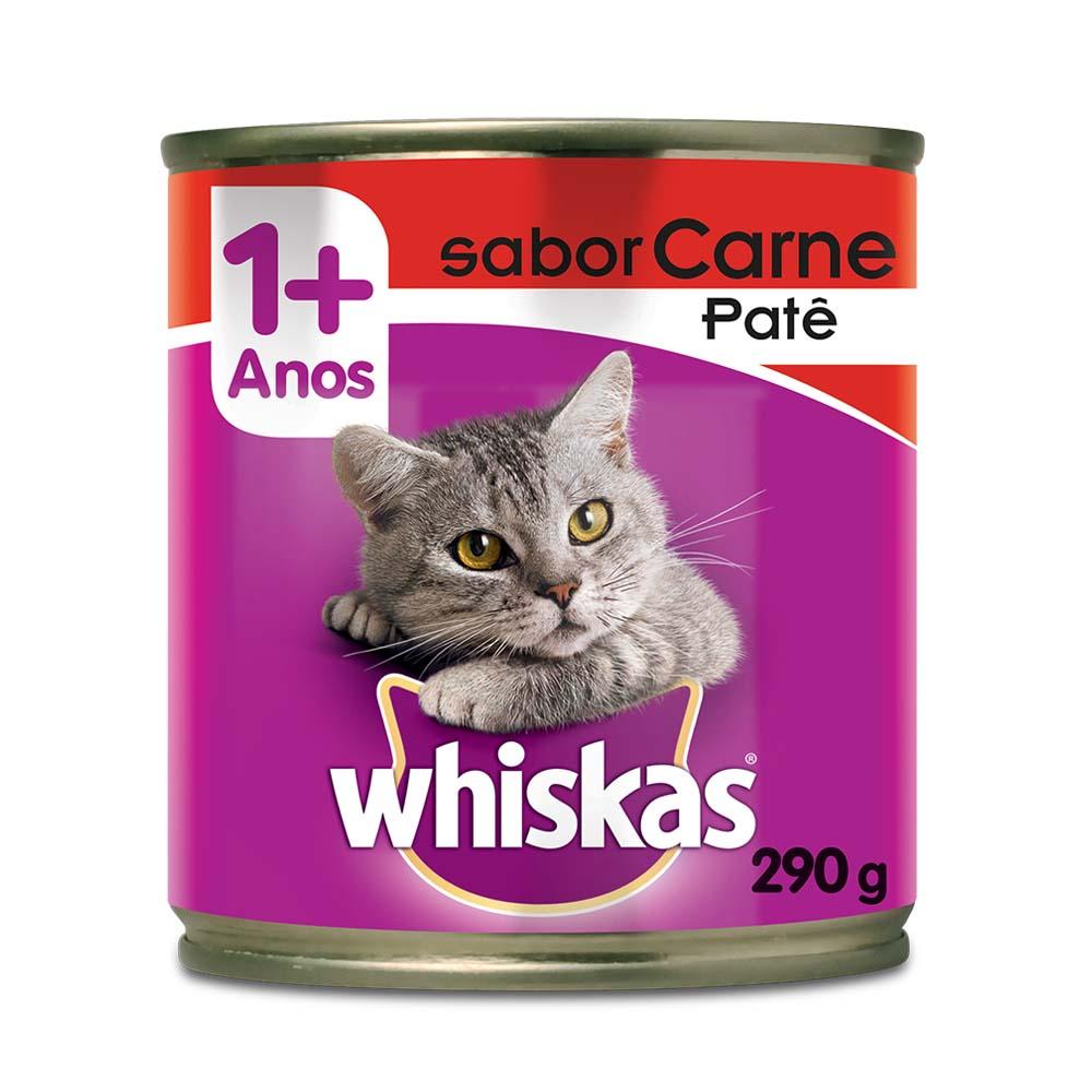Whiskas Lata Patê Carne 290g