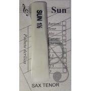 Palheta Acrílica SUN 1.5 - Saxofone Tenor - 5 Unidades