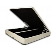 Cama Box Baú Bipartido Casal Premium 1,38 x 1,88 x 0,40 Sued Bege