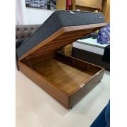 Cama Box Baú Casal Rústico Gold Master Box 138X188cm