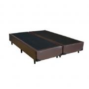 Cama Box Bipartido Premium Corino Marrom King 1,93 x 2,03 x 0,37
