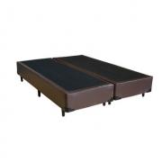 Cama Box Bipartido Premium Corino Marrom Queen 1,58 x 1,98 x 0,37