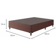 Cama Box Viúva 1,28 x 1,88 x 0,37 Premium Corino Marrom