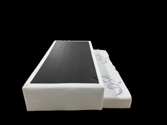 Bicama 2 em 1 0,88 x 1,88 x 0,40 Com Cama Auxiliar em Espuma D-28 Ortopédica Corino Branco ( Sem Colchão de Cima)