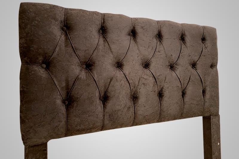Cabeceira Cama Box Solteiro Londres 090cm Corino ou Sued