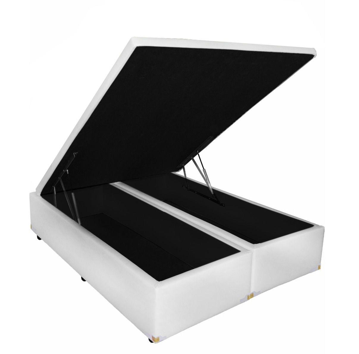 Cama Box Baú Bipartido Queen  1,58 x 1,98 x 0,40 Premium Corino ( Várias Cores)