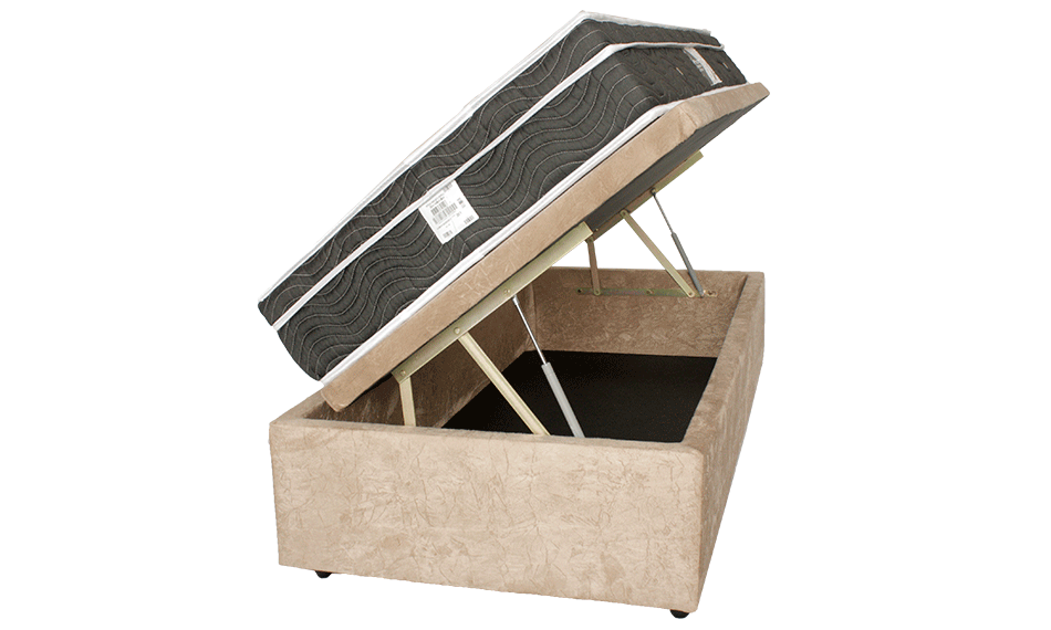 Cama Box Baú Medidas Especiais (Solteiro) Corino  ou Sued