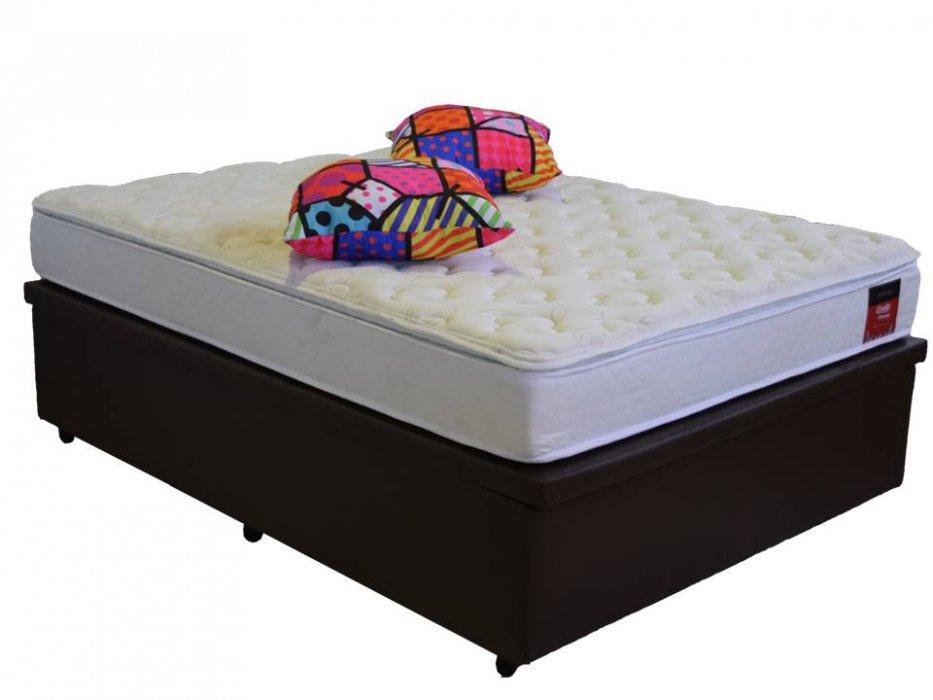 Cama Box Baú Viúva  1,28 x 1,88 x 0,40 Premium Corino Marrom