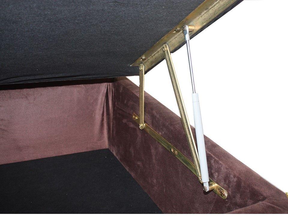 Cama Box Baú Solteiro 0,88 x 1,88 x 0,40 Premium Sued Marrom