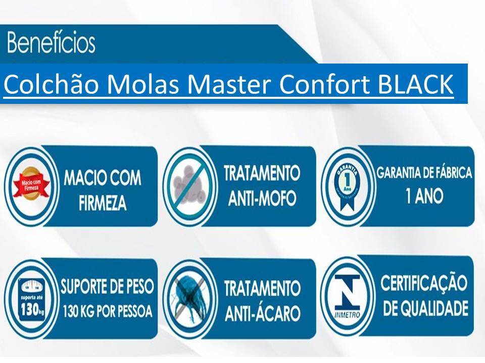 Cama Box Casal 138X188  + Colchão De Molas Luxor Black 26 cm