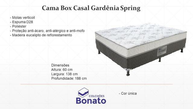 Cama Box Conjugado Casal Spring Molas Gardenia