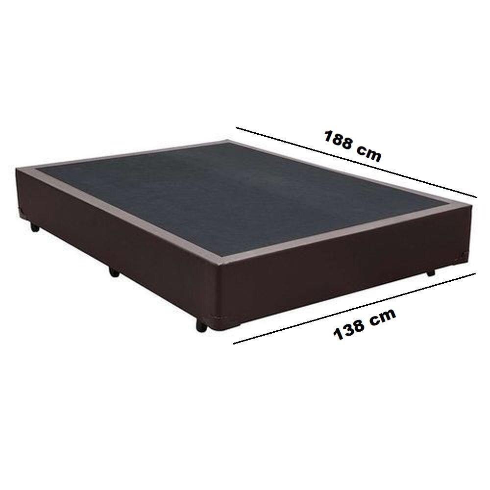 Cama Box Premium Corino Marrom Casal 1,38 x 1,88 x 0,37