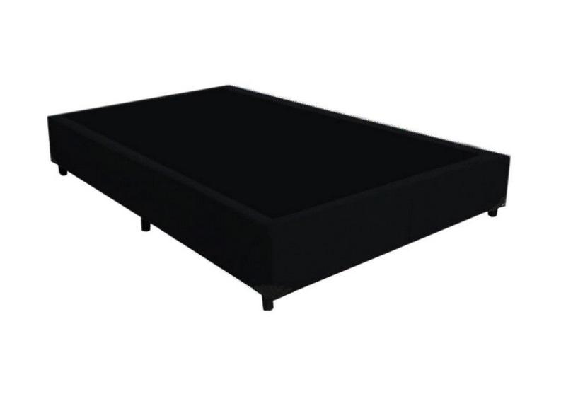 Cama Box Viúva 1,28 x 1,88 x 0,37  Premium Corino Preto