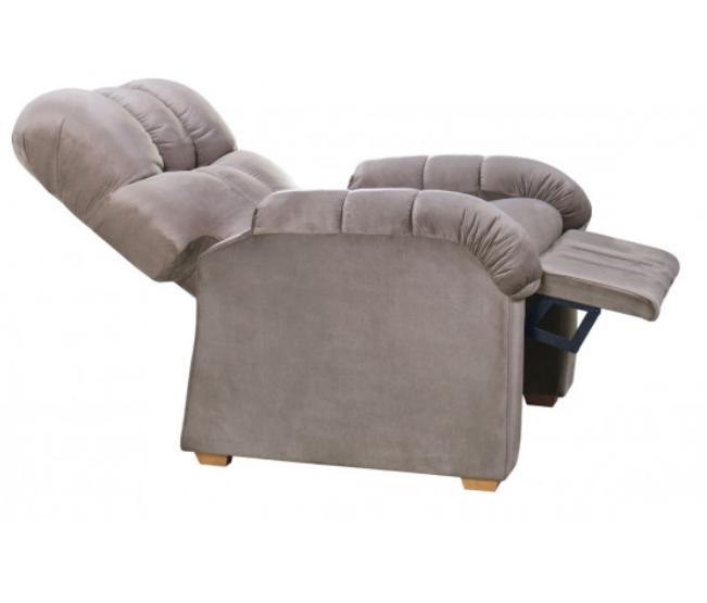 Poltrona Do Papai Assento e Encosto Reclinável K-26 Veludo Capuccino