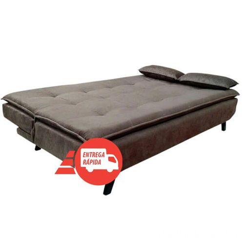 Sofá cama 3 lugares - Modelo 509 Suede - Cor Marrom