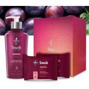 Kit Presente Touch Ameixa Hidratante e 2 Sabonetes em Barra - Yes Cosmétics