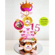 Bolo de Aniversário para Cães com Cobertura de Chantilly Pet e Fita Fina - Modelo 3
