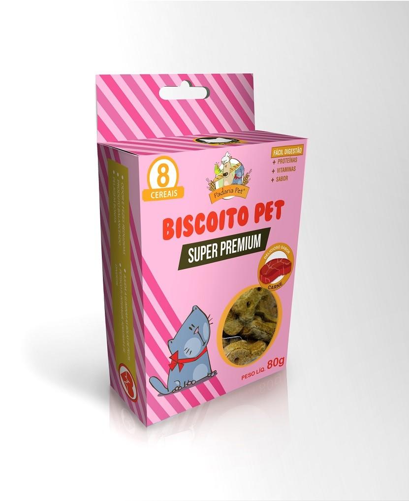 Biscoito de Cereais para Gato Padaria Pet - 80g