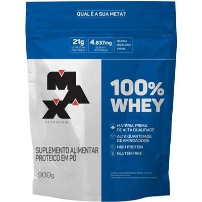 100% Whey Max Titanium 900g Refil
