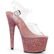 Sandália Adore 708 LG Glitter - Pleaser (encomenda)