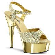 Sandália Delight 609 G Glitter - Pleaser (encomenda)