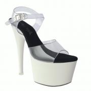 Sandália Disney Branco e Clear - Play Heels (encomenda)