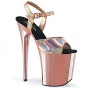Sandália Flamingo 809 HG Crome Holográfica - Pleaser (encomenda)