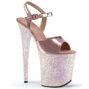 Sandália Flamingo 809 LG Glitter Crome - Pleaser (encomenda)