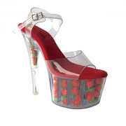 Sandália Flor Acrílico - Play Heels (encomenda)