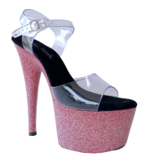 Sandália Del Diablo Glitter Pink - Play Heels (encomenda)