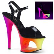 Sandália Moon 708-709 UV Rainbow - Pleaser (encomenda)