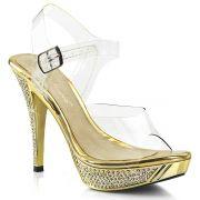 Sandália ou Tamanco Elegant 408/401 Crome Strass - Fabulicious (encomenda)